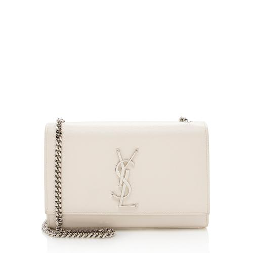 Saint Laurent Grain de Poudre Leather Classic Kate Chain Small Shoulder Bag