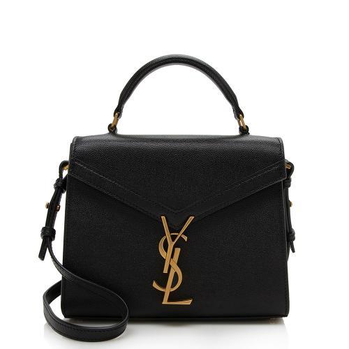 Saint Laurent Grain de Poudre Mini Classic Monogram Cassandra Top Handle Bag