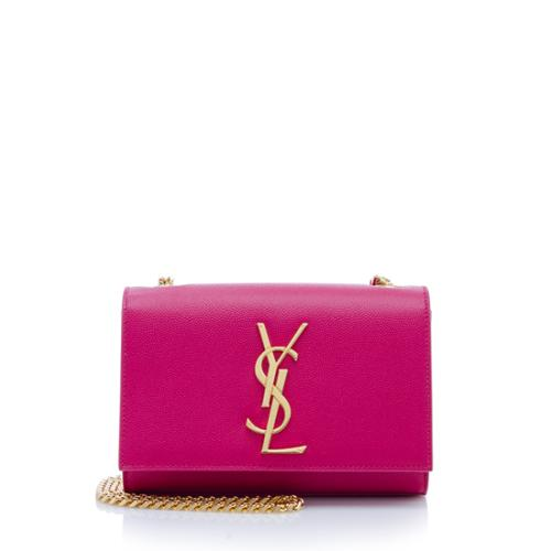 Saint Laurent Grain de Poudre Monogram Small Crossbody Bag