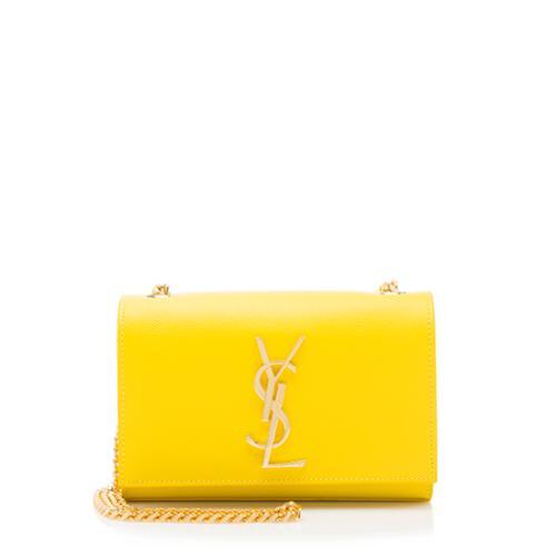 Saint Laurent Grain de Poudre Monogram Small Crossbody Bag