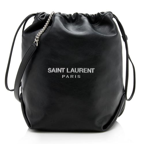 Saint Laurent Lambskin Teddy Pouch Shoulder Bag