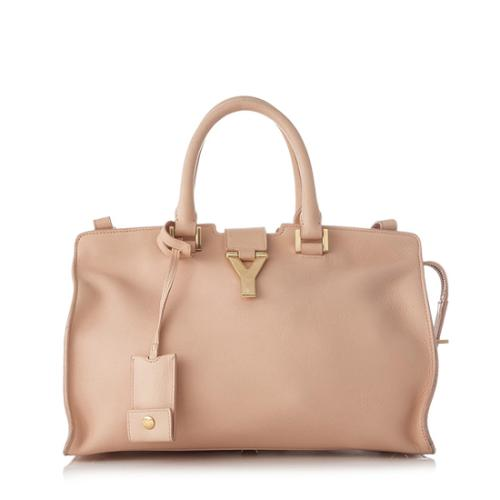 Saint Laurent Calfskin Classic Small Cabas Y Tote - FINAL SALE