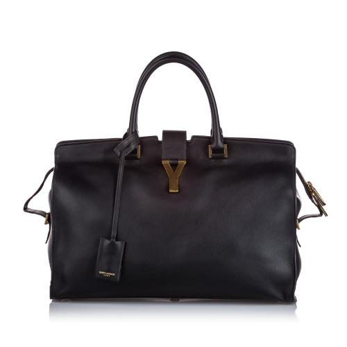 Saint Laurent Leather Cabas Y Satchel