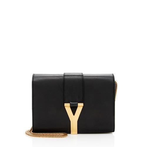 Saint Laurent Leather Chyc Mini Flap Crossbody Bag