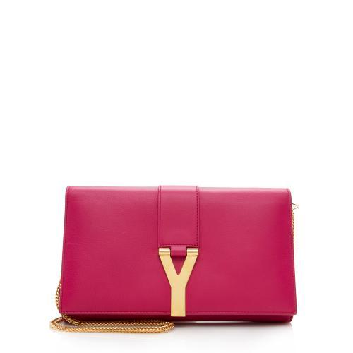 Saint Laurent Leather Chyc Wallet on Chain Bag