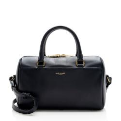Saint Laurent Leather Classic Baby Duffle Satchel