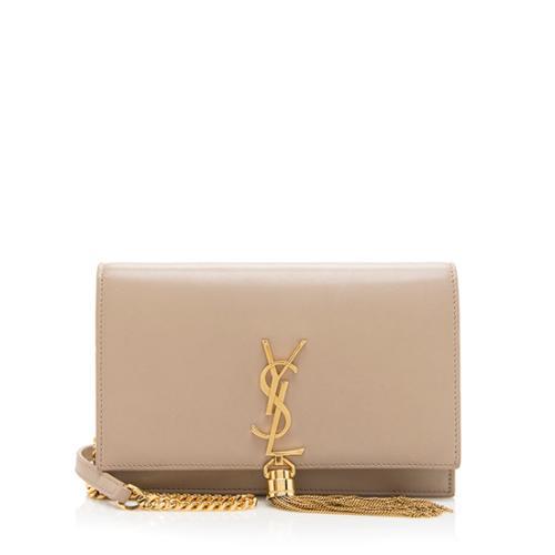 Saint Laurent Leather Classic Kate Tassel Chain Wallet