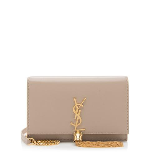 Saint Laurent Leather Classic Kate Tassel Chain Wallet