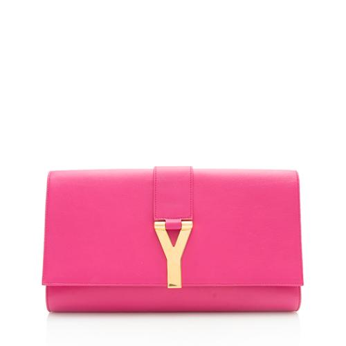 Saint Laurent Leather Classic Y Clutch - FINAL SALE