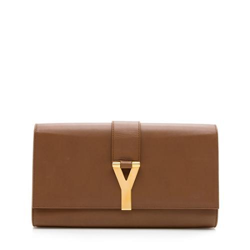 Saint Laurent Leather Classic Y Clutch