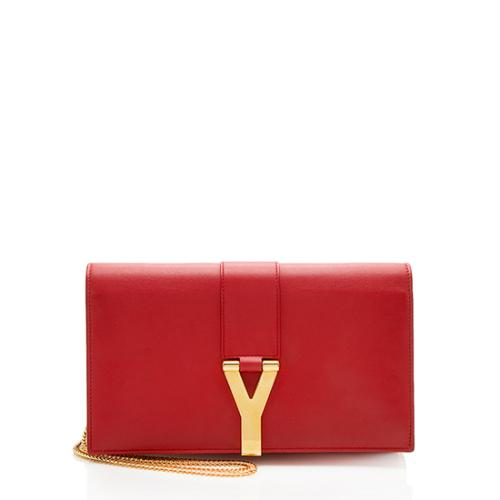 Saint Laurent Leather Classic Y Wallet on Chain Bag - FINAL SALE