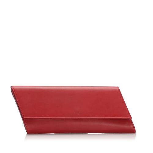 Saint Laurent Leather Diagonale Clutch