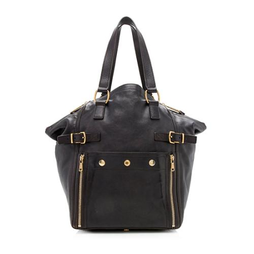 Saint Laurent Leather Downtown Large Tote