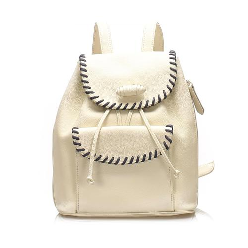 Saint Laurent Leather Drawstring Backpack
