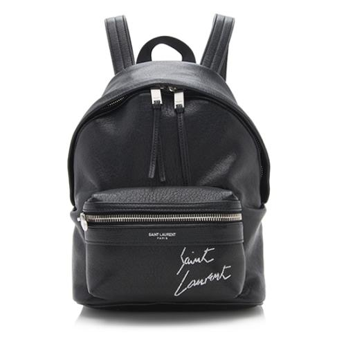 Saint Laurent Leather Embroidered Mini Toy City Backpack