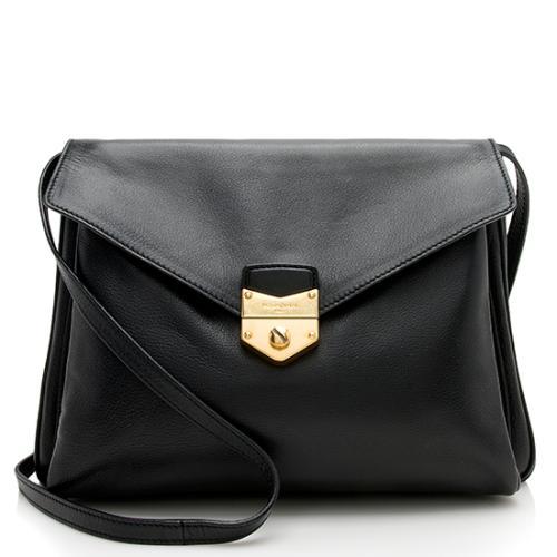 Saint Laurent Leather Envelope Dandy Maxi Shoulder Bag