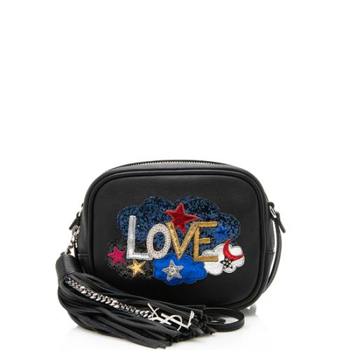 Saint Laurent Leather Love Blogger Bag