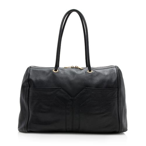 Saint Laurent Leather Lucky Chyc Bowler Satchel