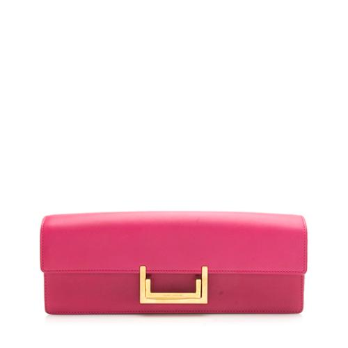 Saint Laurent Leather Lulu Clutch - FINAL SALE