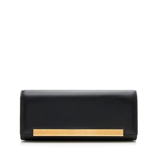 Saint Laurent Leather Lutetia Flap Clutch