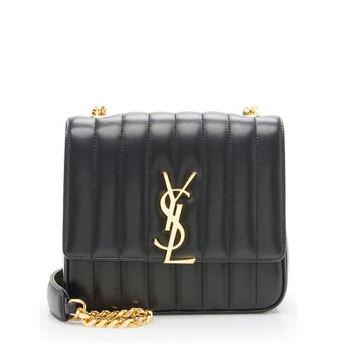 Saint Laurent Leather Medium Vicky Shoulder Bag
