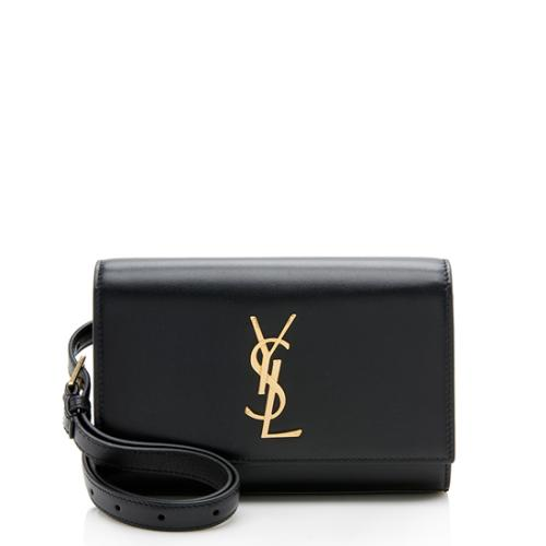 Saint Laurent Calfskin Monogram Kate Belt Bag