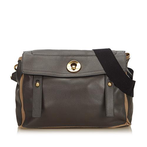 Saint Laurent Leather Muse Two Medium Messenger Bag