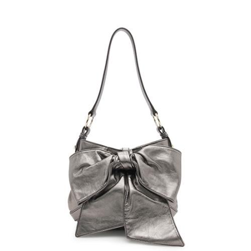 Saint Laurent Leather Sac Bow Shoulder Bag - FINAL SALE