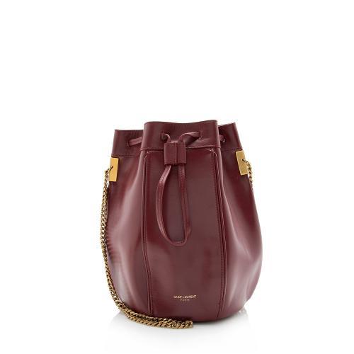 Saint Laurent Leather Talitha Small Bucket Bag