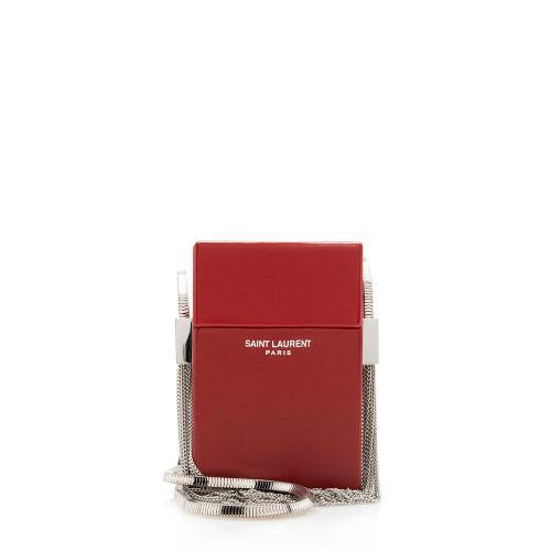 Saint Laurent Leather Tassel Box Minaudiere Crossbody bag