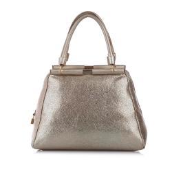 Saint Laurent Majorelle Leather Handbag