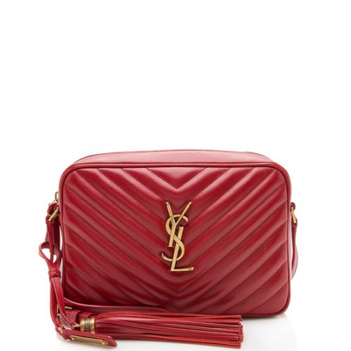 Saint Laurent Matelasse Calfskin Lou Chain Shoulder Bag