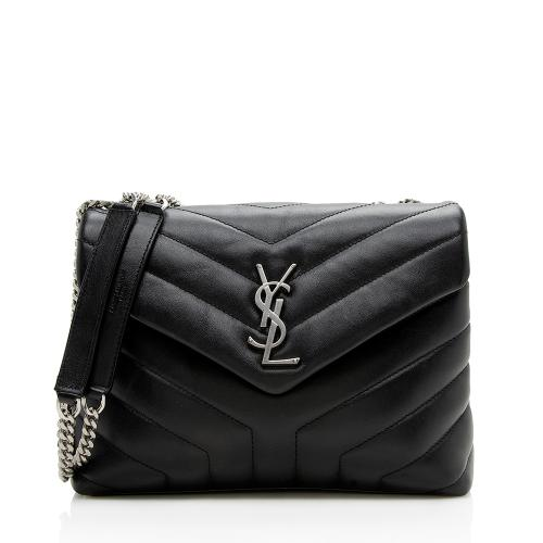 Saint Laurent Matelasse Calfskin LouLou Chain Small Crossbody Bag