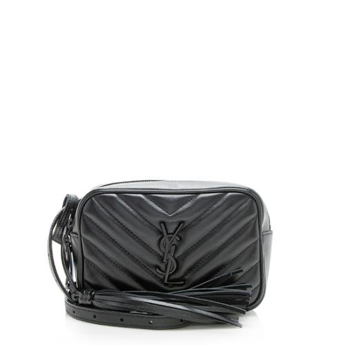 Saint Laurent Matelasse Calfskin Monogram Lou Belt Bag