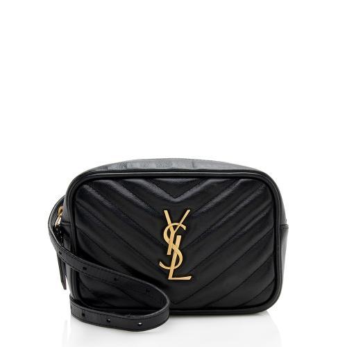 Saint Laurent Matelasse Calfskin Monogram Small Belt Bag