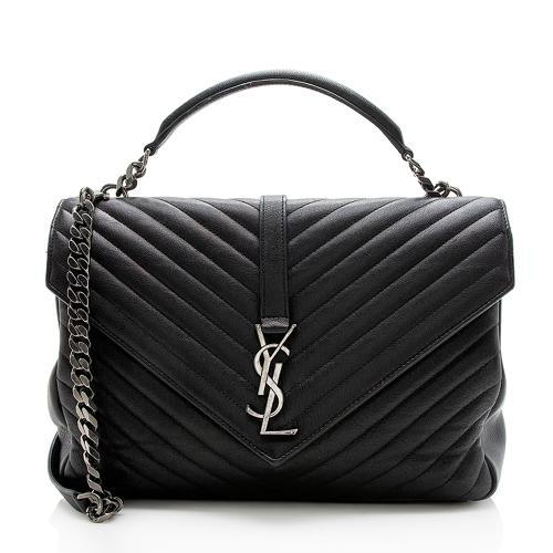 Saint Laurent Matelasse Lambskin Classic Monogram Large College Bag