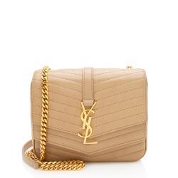 Saint Laurent Matelasse Lambskin Monogram Sulpice Small Shoulder Bag