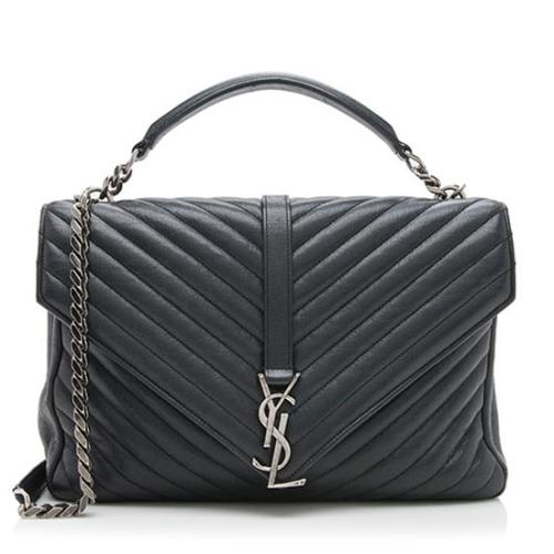 Saint Laurent Matelasse Leather Classic Large College Monogram Bag