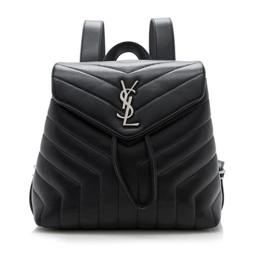 Saint Laurent Matelasse Leather LouLou Small Backpack