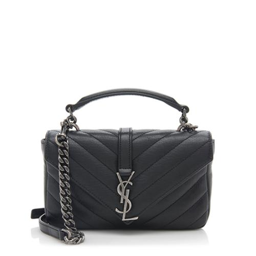 Saint Laurent Matelasse Leather Monogram College Chain Wallet
