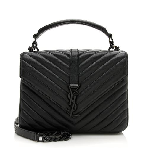 Saint Laurent Matelasse Leather Monogram Medium College Shoulder Bag