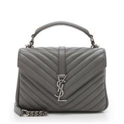 Saint Laurent Matelasse Calfskin Medium College Shoulder Bag