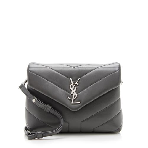 Saint Laurent Matelasse Calfskin Toy LouLou Crossbody Bag