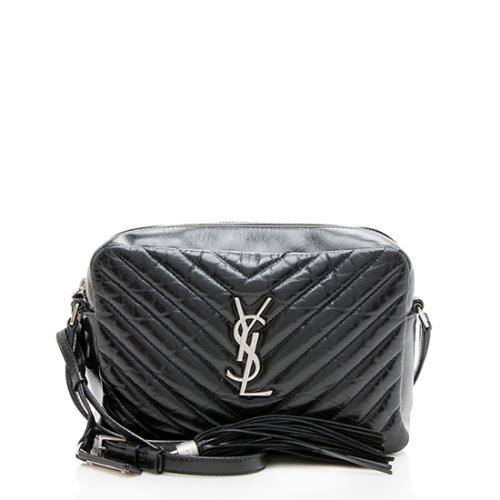 Saint Laurent Matelasse Shiny Calfskin Lou Camera Bag