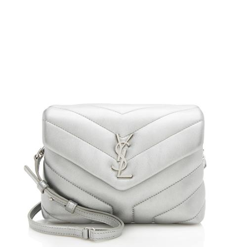 Saint Laurent Metallic Matelasse Toy LouLou Crossbody Bag