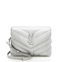 Saint Laurent Metallic Matelasse Calfskin LouLou Toy Crossbody Bag