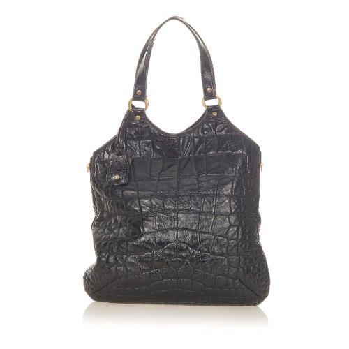 Saint Laurent Metropolis Embossed Leather Tote Bag