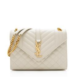 Saint Laurent Mixed Matelasse Leather Classic Monogram Medium Shoulder Bag
