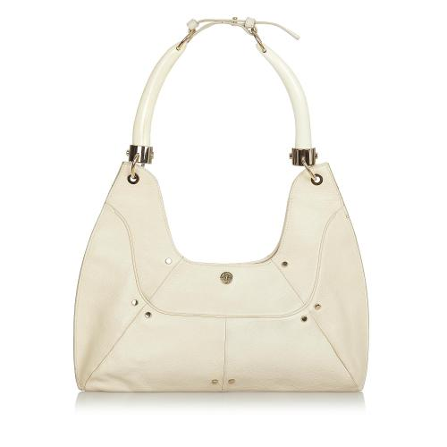 Saint Laurent Mombasa Double Horn Leather Shoulder Bag