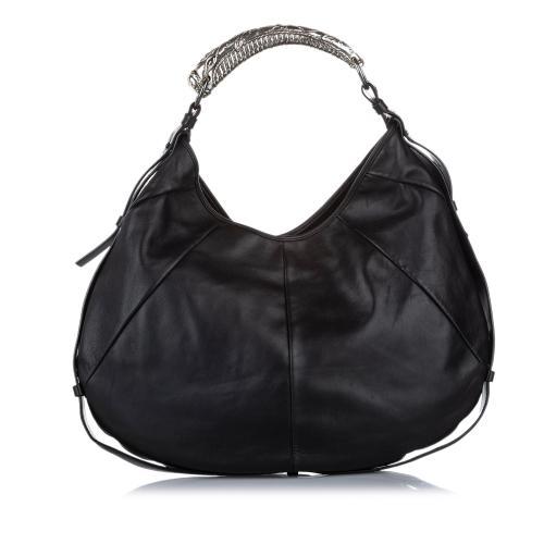 Saint Laurent Mombasa Leather Hobo Bag